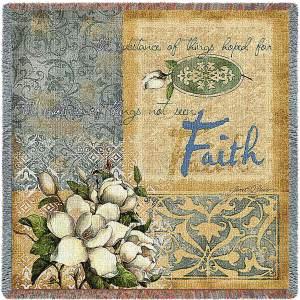 Faith   Woven Blanket   53 x 53