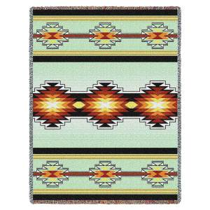Sevah | Southwestern Cotton Throw Blanket | 53 x 70