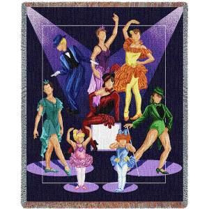Dance Recital   Cotton Throw Blanket
