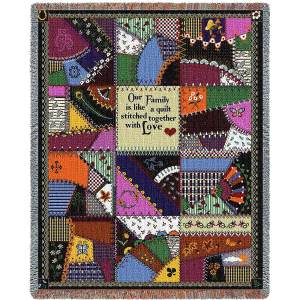 Stitched With Love   Woven Throw Blanket   53 x 70