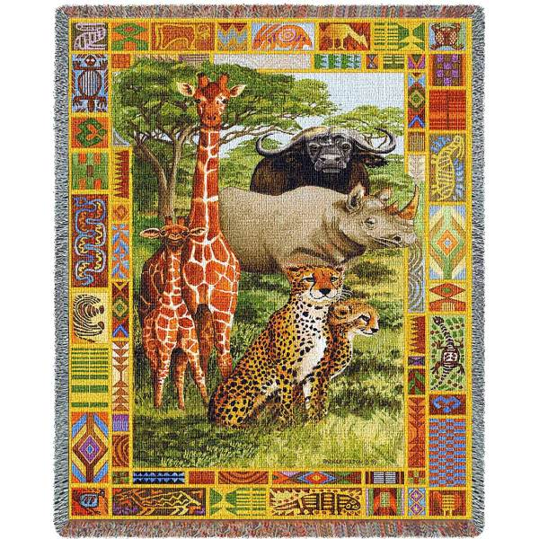African Plains | Woven Blanket | 53 x 70