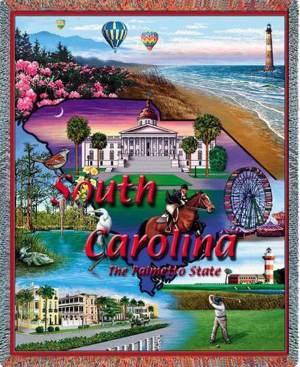 South Carolina   Tapestry Blanket   54 x 70