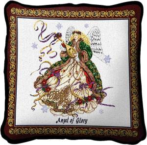 Angel Of Glory | Christmas Throw Pillow | 17 x 17