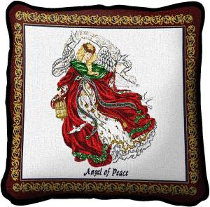 Angel Of Peace | Christmas Throw Pillow | 17 x 17