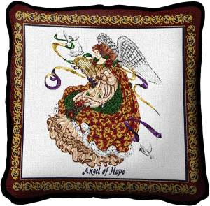Angel Of Hope | Christmas Throw Pillow | 17 x 17
