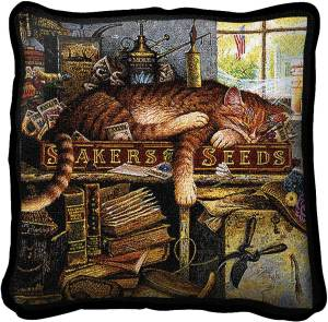 Charles Wysocki | Remington The Horticulturist | Throw Pillow | 17 x 17