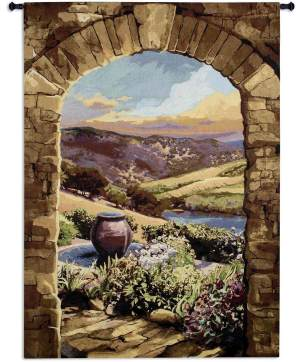 Tuscan Afternoon by Brad Simpson | 64 x 90 | Woven Tapestry Decor