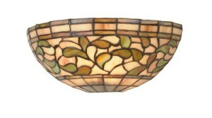 "12"" W Turning Leaf Tiffany Stained Glass Scone"