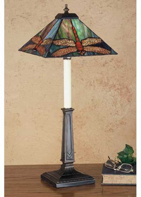 Prairie Dragonfly Stained Glass Buffet Table Lamp