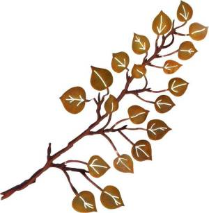 Aspen Leaves Laser Cut Steel | 24"