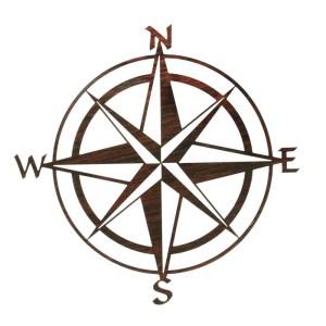 "Compass Rose 20"" | Nautical Metal Wall Art"