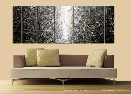 Controlled Chaos by Jon Allen | 7 Panel Metal Wall Art Set