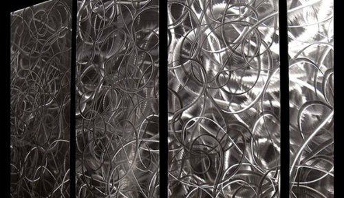 Controlled Chaos by Jon Allen | 7 Panel Metal Wall Art Set