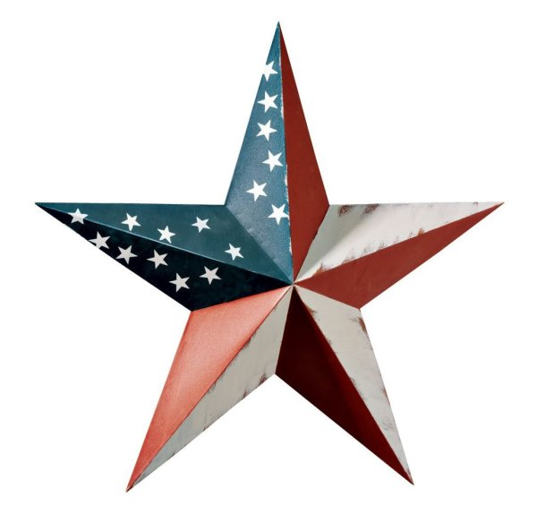 American Flag Metal Barn Star