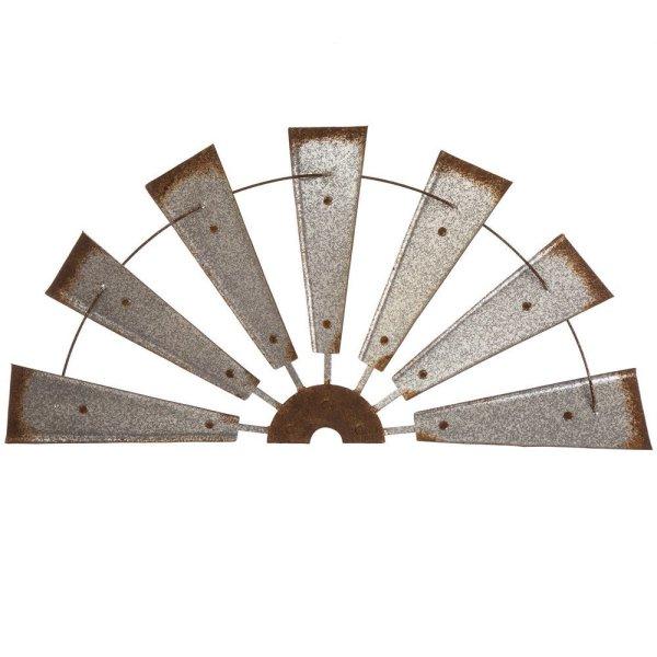 Semi-Circle Windmill Metal Wall Decor