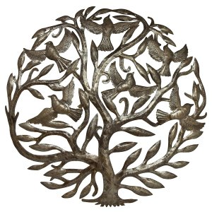 Tree of Life | Haitian Metal Wall Art from Recycled Oil Drums | 24""