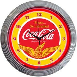 Neonetics Coca-Cola Wings Logo Retro Neon Clock
