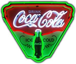 Neonetics Ice Cold Coca-Cola Retro Triangle Neon Sign