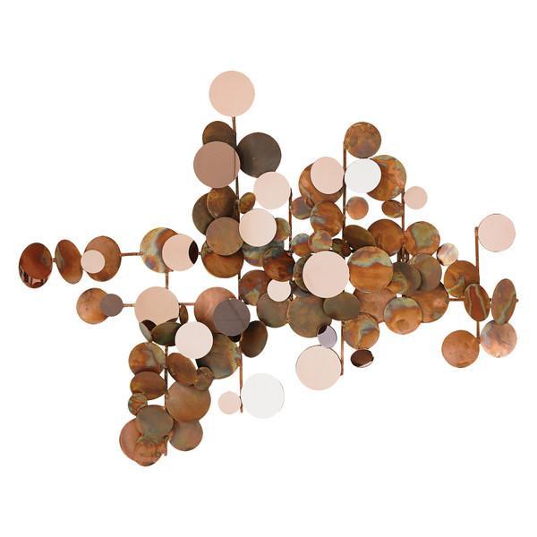 Copper Dots Modern Metal Wall Art