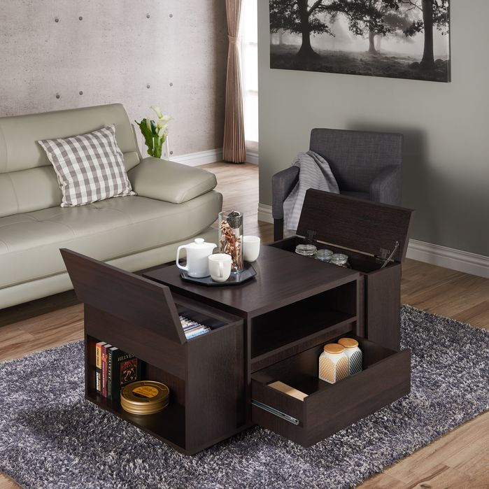 Multipurpose Furniture | Latitude Run | Dillingham Flip Top Storage Coffee Table
