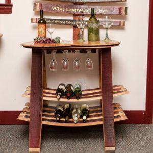 Napa East Collection   Barrel Head 16 Bottle Floor Wine Rack