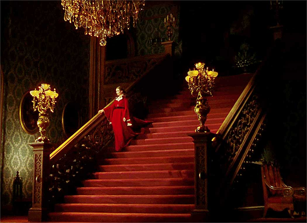 The Classic Scarlett O'Hara Grand Staircase from the film Gone with the Wind