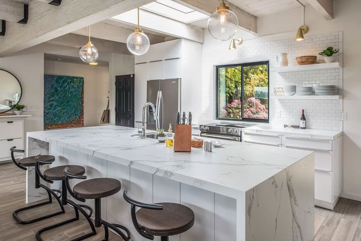 Bright White Industrial Kitchen