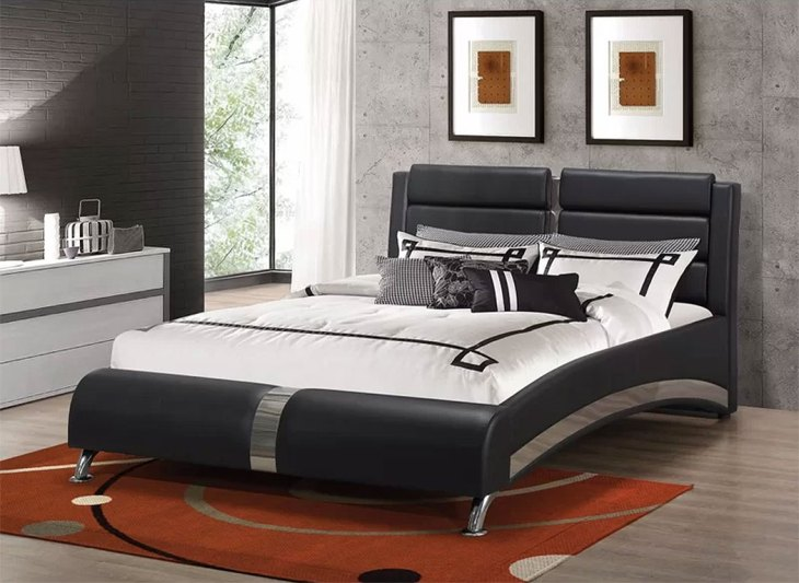 Upholstered Sleigh Beds | Henrie Contemporary Queen Bed