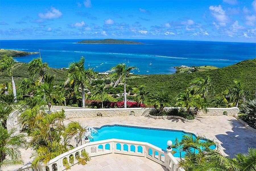 Views from Bulgarian Contessa Nadia Farber's Virgin Islands Castle