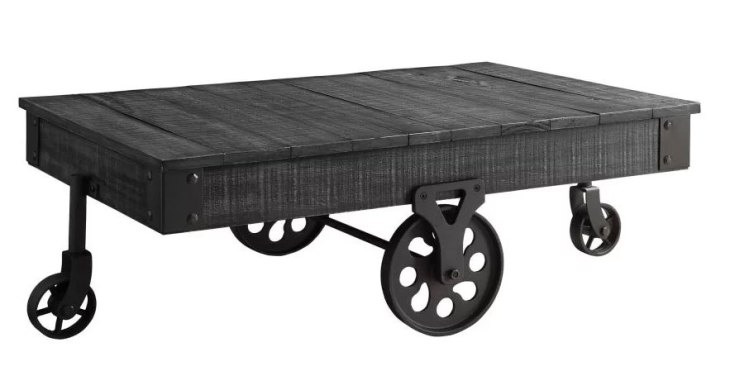 Rustic Wooden Coffee Tables   17 Stories   Choncey Wood Table   Black