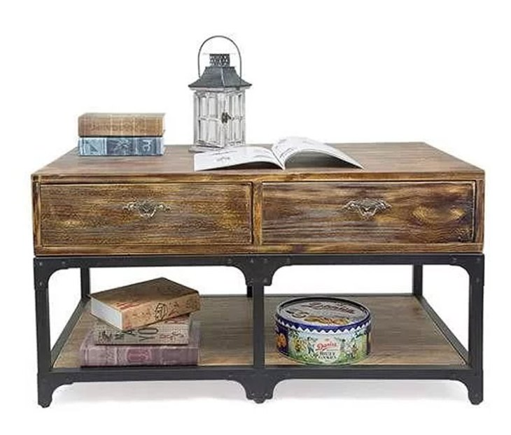 Rustic Wood Coffee Tables   17 Stories   Eira Coffee Table