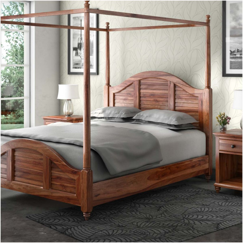 Rustic & Farmhouse Canopy Beds  Livingston California King Bed
