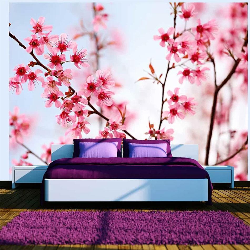 Modern & Bright Floral Bedroom Design