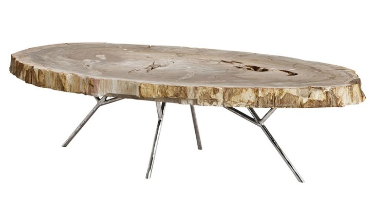 Petrified Wood Furniture: Coffee Table