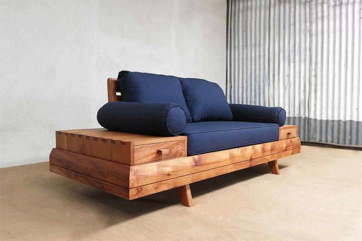 TheSustainable Rustic Floating Sofa