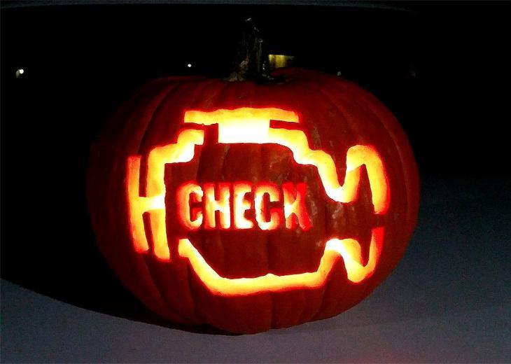 Pumpkin Carving Ideas Check Engine Light Pumpkin