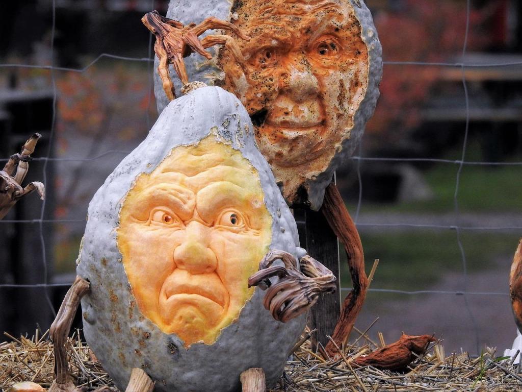 Pumpkin Carving Ideas Grey Pumpkin Gourd