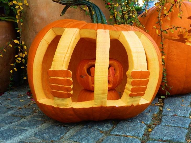 Creative Pumpkin Carving Ideas | Jailbird Pumpkin