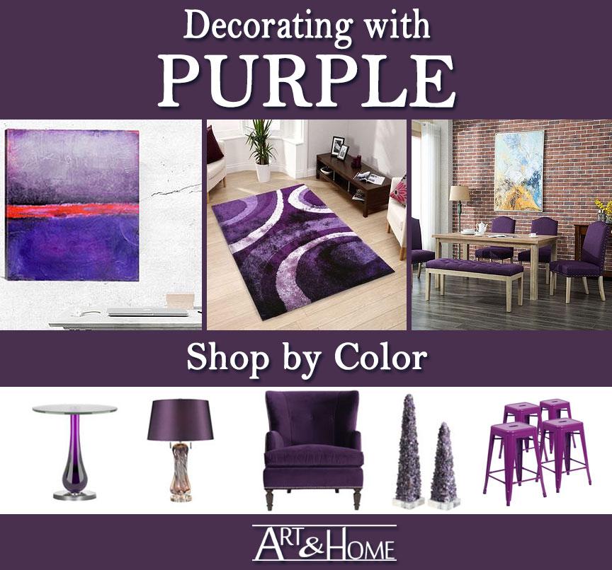 Purple Furniture & Home Decor Accents