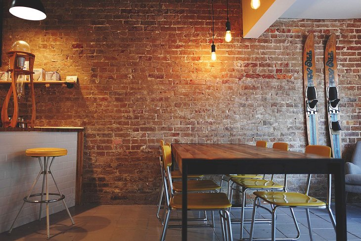 Rustic Exposed Brick Kitchen