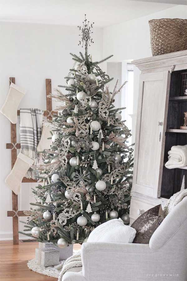 Beautiful Christmas Trees Rustic Wintry Elegance Christmas Tree