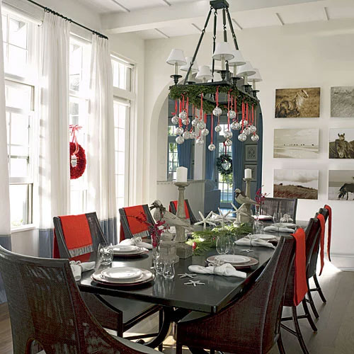 Charming Farmhouse Holiday Chandelier
