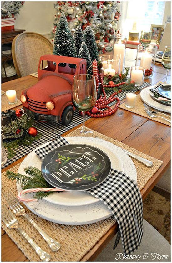 Rustic Farmhouse Christmas Table