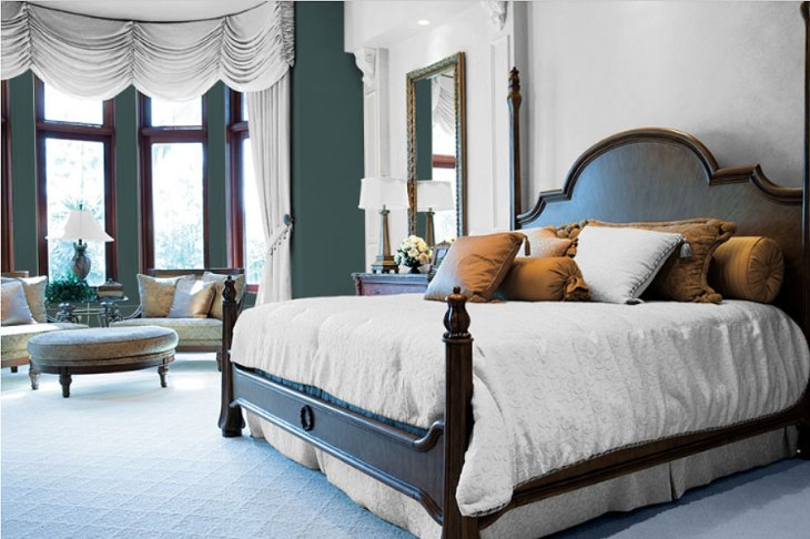 Classic Bedroom with Night Watch Color of the Year