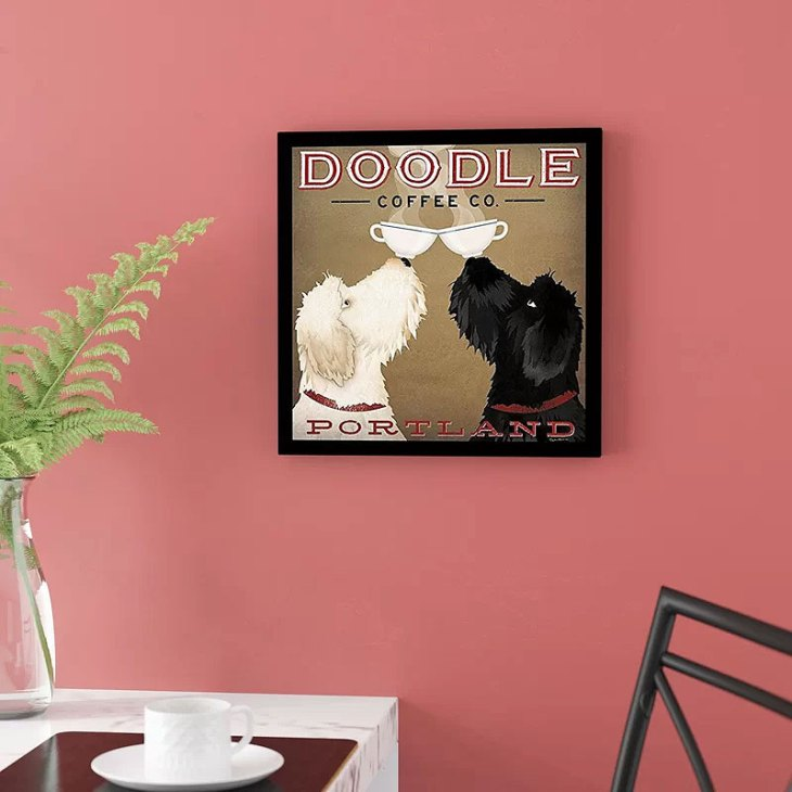 'Double Doodle Coffee Company Portland' by Ryan Fowler Framed Graphic Art