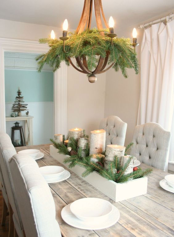 Easy Evergreen Chandelier Christmas Decoration