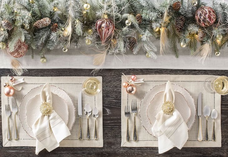 French Country Elegance Christmas Tablescape