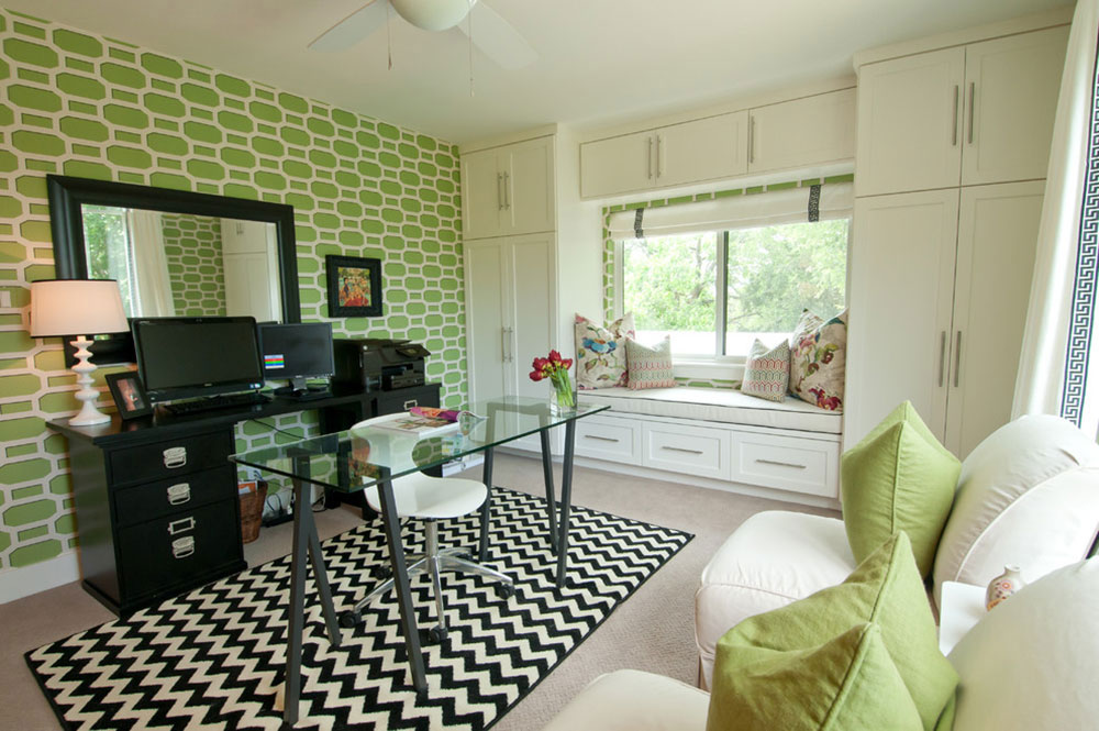 Green Home Office Design.
