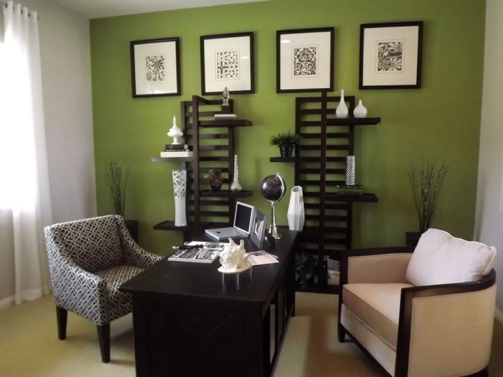 Green Home Office Design.