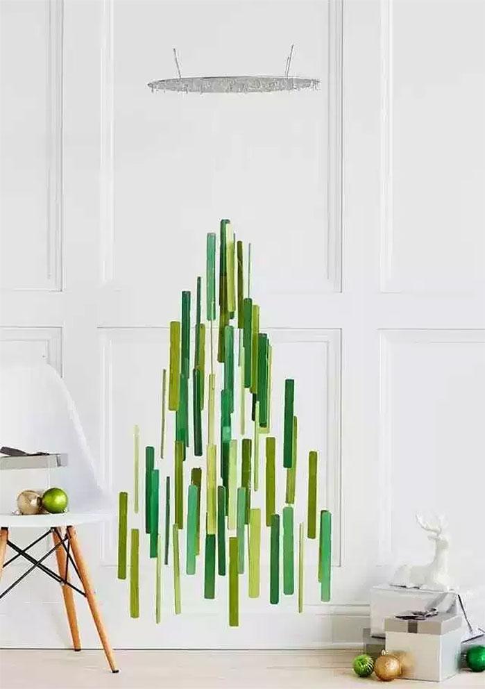 Hanging Fused Glass Christmas Tree